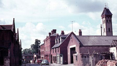 Bond Street Fire Station- looking south toward Eagle Street with the three storey Fire Station on th