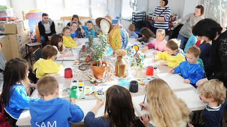 Family Art Room Workshop at Ipswich Art School with artist Ky Rice