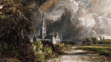 Salisbury Cathedral from the Meadows, by John Constable