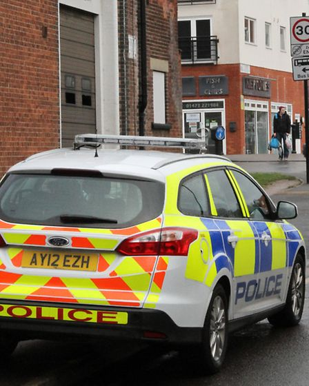 The area of Duke Street in Ipswich where armed police were called to after an armed man was seen. Ph
