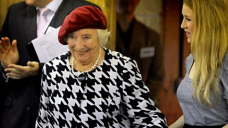 Dame Vera Lynn at the opening of the Dame Vera Lynn Trust School in 2010