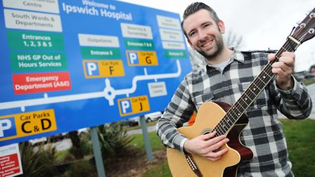 Ipswich Hospital worker and singer Wayne Liffen is aiming to perform eight gigs in ten hours on Febr
