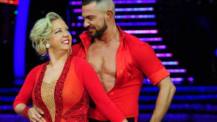 Star of Dragons' Den Deborah Meaden and Robin Windsor during a press call for the UK Strictly Come D