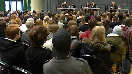 Northgate Sixth Form hosts its own Question Time event.