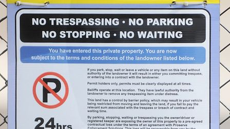 The trespass notice was issued by Proserve Enforcement Solutions at Ransomes Europark in Ipswich.