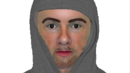 Police have released an Efit of a man wanted in connection with a robbery