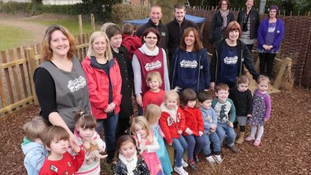 Holbrook Pre-School celebrates new outdoor learning and play area