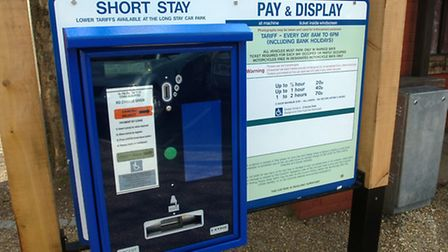 Cash stolen from a car park pay and display machine