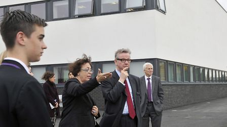 The former secretary of state for education, Michael Gove, took a tour of Ipswich Academy in 2013 be