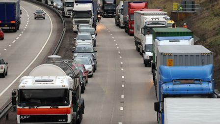 Delays have been caused by a traffic collision
