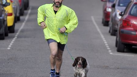 Simon Tomlin, of Ipswich, is running the London Marathon in April for the East Anglian Air Ambulance