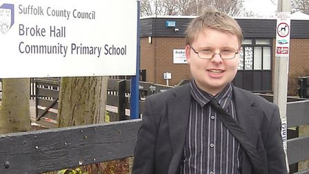 Matthew Percy while standing for the county council in 2013.