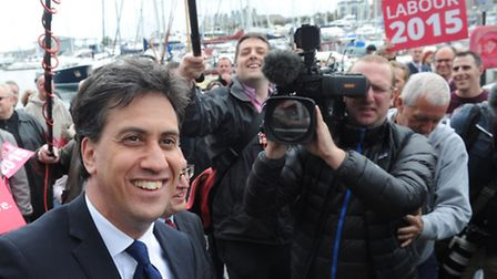 Labour Leader Ed Miliband makes a visit to UCS, Ipswich