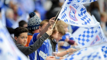 Fans at the Ipswich Town v Nottingham Forest game.