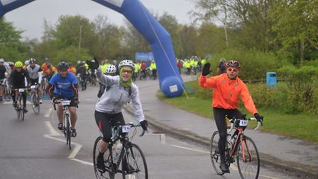 Suffolk Cycle Sportive for St Elizabeth Hospice at Alton Water.