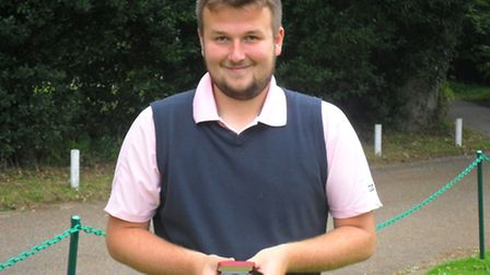 Chris Reynolds is pictured in September last year after winning a golf competition.