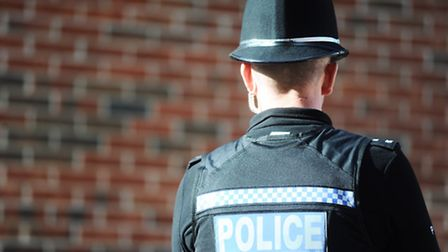 Police are looking for a man after he threatened a woman with a hammer during a burglary in Ipswich.