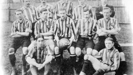 Included in the team photo from 1902 are Albert Bailey (middle row, fourth left) and Ernest Kent (mi