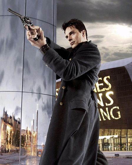 John Barrowman as Captain Jack Harkness in Doctor Who companion show Torchwood.