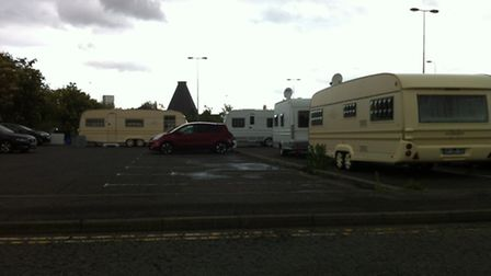 Travellers on West End Road car park, Ipswich