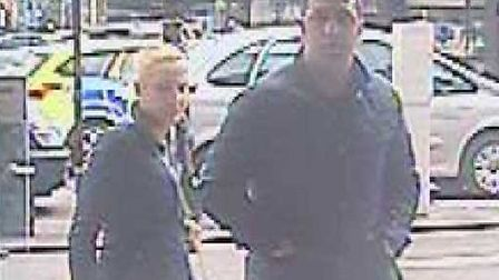 Police are issuing CCTV images of a man and woman they would like to speak to and warning shoppers t