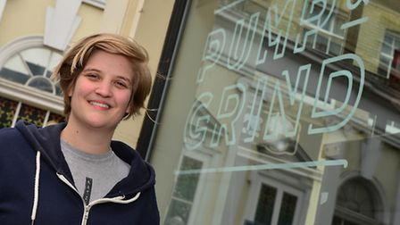 Abby Curtis who is opening Pump and Grind coffee shop in Great Colman Street with Tom Kerridge