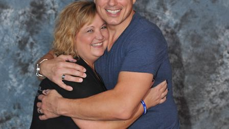 Julie Shofner with Doctor Who and Torchwood star John Barrowman