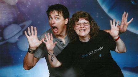 Antje Strauch with Doctor Who and Torchwood star John Barrowman