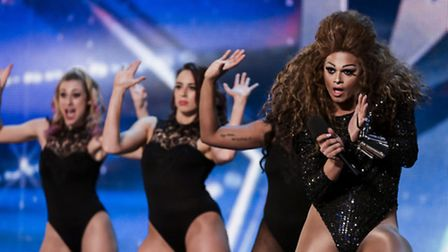 Aaron Carty performs his Beyonc� act on Britain's Got Talent. Photo: TOM DYMOND