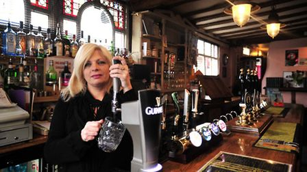 Sheryl Meshirer, previous landlady of The Spread Eagle, Ipswich.
