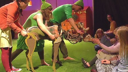 The Red Rose Chain rehearse The Green Children, a new multi-sensory play for young people with compl