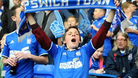 The Sky Bet Championship play-off first leg match between Ipswich Town v Norwich City