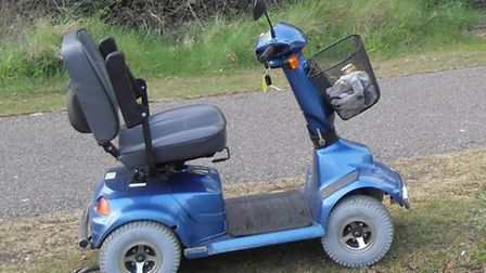 Tony Foreman's mobility scooter.