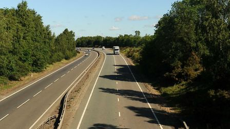 The accident happened on the A14 near Kirton.