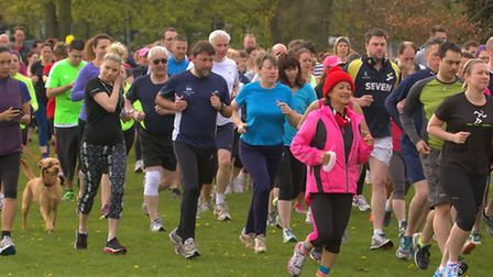 Runners take part in the Ipswich Parkrun in Chantry Park