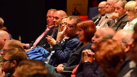 Guests at the premiere of the film, Once more For Bobby at Ipswich Film Theatre wait for the film to