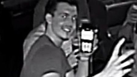 CCTV image following portable credit card machine theft.