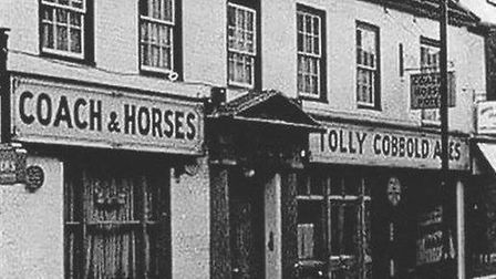 An older)photo of the Coach and Horses