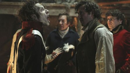 Jonathan Strange (Bertie Carvel) faces death in the face, literally, on the battlefield