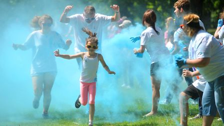 Hundreds of runners took part in the EACH Colour Dash in Christchurch Park in Ipswich on Sunday.