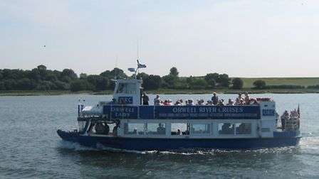 Afternoon tea aboard the Orwell Lady