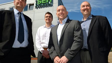 SEH French Group L to R this shows Paul Rodwell, Director, Simon Hubert, Contract Manager, Simon