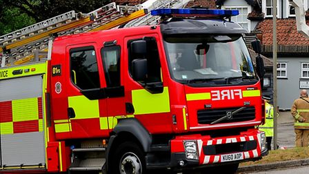 Fire crews were called to Glemsford