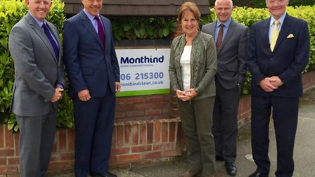 Monthind anniversary. From left to right : Simon Biggs, Partner, Geoff Walker - Non-executive Dire