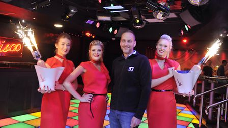 Hostesses Charlotte Lawrence, Holly Dyson and Avive Martin join general manager Glen Freeman in Unit