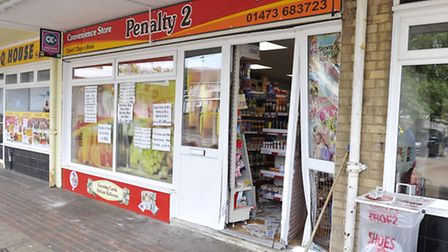 Penalty 2 convenience store on Ellenbrook Green was ram raided early Thursday morning.