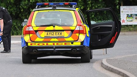 A blue Ford Focus, green Nissan Micra and black Citroen Berlingo were involved in a collision on the