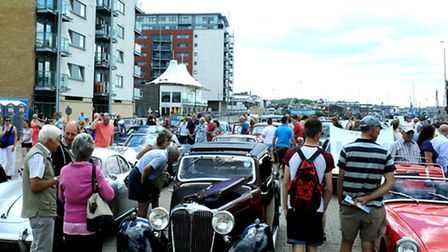 Two and four wheels, classic and new cars, all on show on Sunday at the Ipswich Wheels event on the