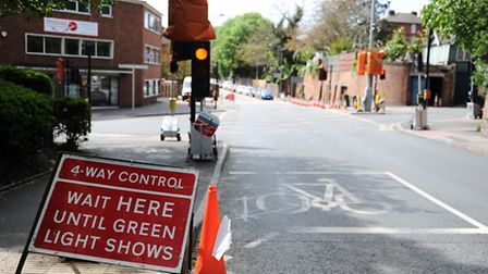 Just when you thought it was safe to get back behind the wheel . . . the roadworks are back in Handf
