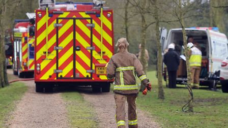 Suffolk Fire and Rescue Service called to Knodishall blaze.